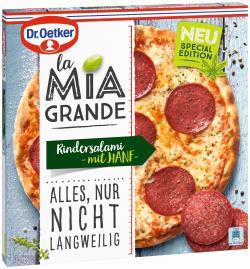 Dr. Oetker La Mia Grande Pizza Rindersalami mit Hanf