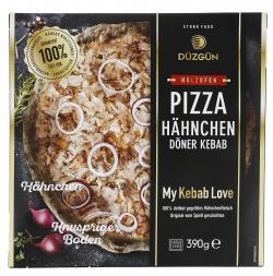 Düzgün Holzofenpizza Hähnchen Döner Kebab