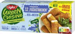 Iglo Green Cuisine vegane 'Fischstäbchen' aus Reis und Weizen