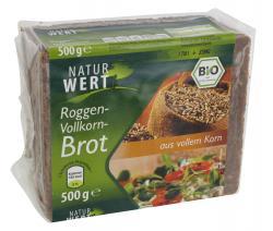 NaturWert Bio Roggen-Vollkornbrot (500 g) - 4000446030667