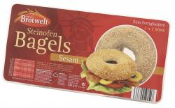 Aldente Brotwelt Steinofen Bagels Sesam zum Fertigbacken