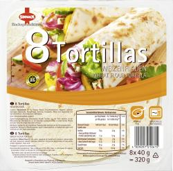 Sinnack 8 Tortillas Weizenfladen