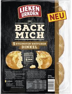 Lieken Urkorn Back Mich Steinofen Brötchen Dinkel