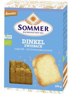 Sommer Demeter Bio Dinkel Zwieback ungesüßt vegan
