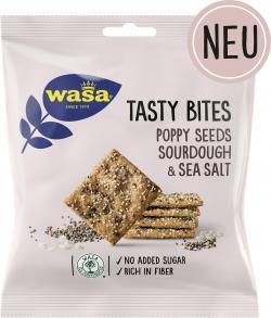 Wasa Tasty Bites Poppy Seeds Sourdough & Sea Salt