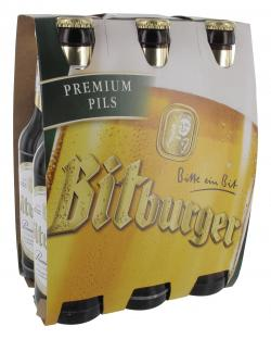 Bitburger Premium Pils (6 x 0,33 l) - 4102430012403