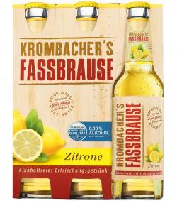 Krombacher's Fassbrause Zitrone (6 x 0,33 l) - 4008287901719