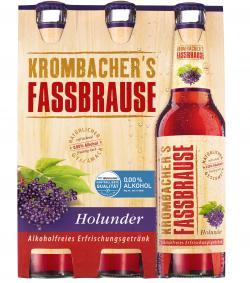 Krombacher's Fassbrause Holunder (6 x 0,33 l) - 4008287901757