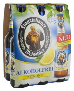 Franziskaner Weissbier alkoholfrei Zitrone (6 x 0,33 l) - 2000435614450