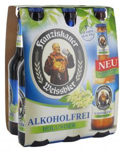 Franziskaner Weissbier alkoholfrei Holunder (6 x 0,33 l) - 2000435614467