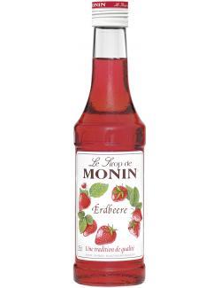 Monin Sirup Erdbeere (250 ml) - 4008077744076