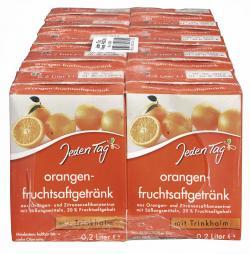 Jeden Tag Orangen-Fruchtsaftgetränk Trinkpäckchen
