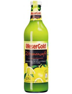 Wesergold Zitronensaft (750 ml) - 4100060003419