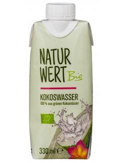 NaturWert Bio Kokoswasser natur (330 ml) - 4250780321949