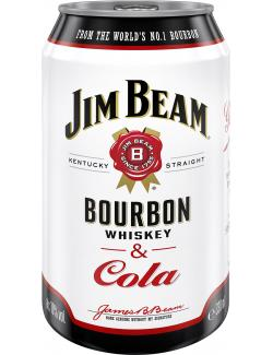 Jim Beam Bourbon Whiskey & Cola (Einweg)