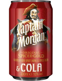 Captain Morgan Spiced Gold & Cola (Einweg)