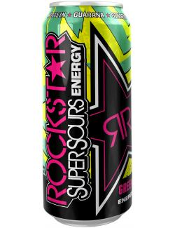 Rockstar Super Sours Energy Drink green apple (Einweg)