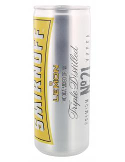 Smirnoff Vodka & Lemon (250 ml) - 5410316946636