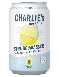 Charlie's Organic Sprudelwasser Lemon (Einweg)