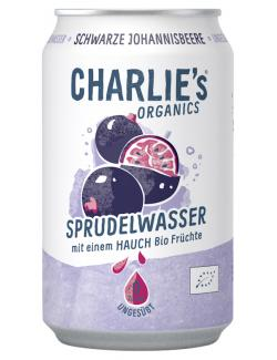Charlie's Organic Sprudelwasser Schwarze Johannisbeere(Einweg)