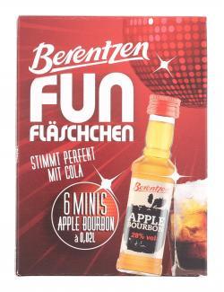 Berentzen Fun Fläschchen Apple Bourbon (6 x 0,02 l) - 4041500215835