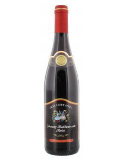 Kellertanz Schwarze Mädchentraube Merlot Rotwein lieblich