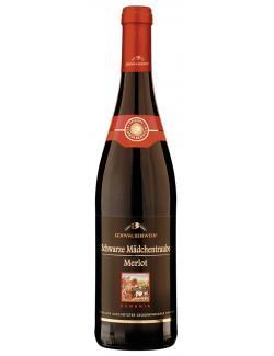 Schwalbenwein Schwarze Mädchentraube Merlot Rotwein lieblich (750 ml) - 4008093012418