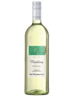 Die Weinmacher Riesling Pfalz Weißwein halbtrocken