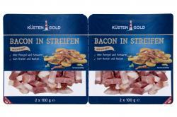 Küstengold Bacon in Streifen geräuchert