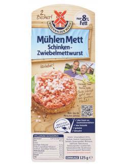 Rügenwalder Mühlen Mett Schinken-Zwiebelmettwurst  (125 g) - 4000405003138