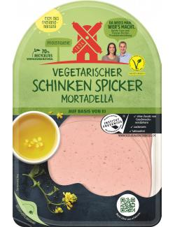 Rügenwalder Mühle vegetarischer Schinken Spicker Mortadella (80 g) - 4000405004548