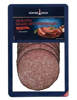 Küstengold Delikatess Salami mit Pefferrand