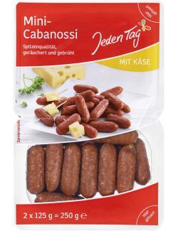 Jeden Tag Mini Cabanossi mit Käse