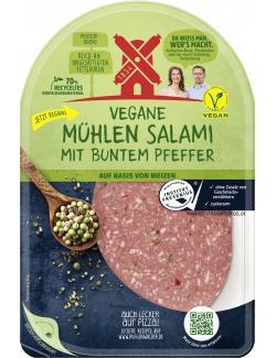 Rügenwalder Mühle vegane Mühlen Salami mit buntem Pfeffer