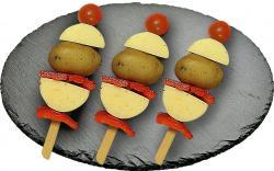 Grillkäse Kartoffel-Spieß