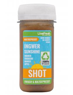 LiveFresh Kaltgepresster Shot Ingwer Sunshine