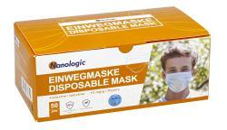 Nanologic Einwegmasken 3-lagig, 50 Stk.