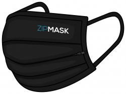 Zipmask Mund-Nasenmaske mit Reißverschluss