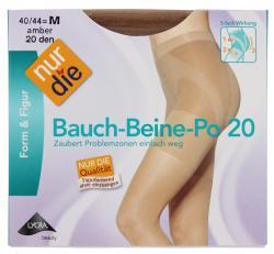 nur die Bauch-Beine-Po Strumpfhose 20 den Gr. 40-44 M amber