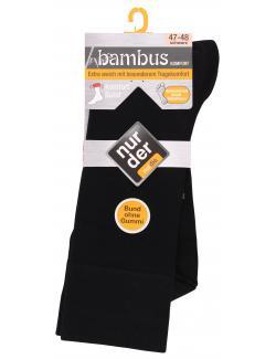 nur der Bambus Komfort Socke Gr. 47-48 schwarz (1 St.) - 4003015019810