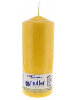 Müller-Kerzen Stumpenkerze goldgelb (1 St.) - 4009078170727