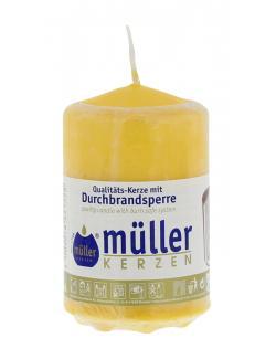 Müller-Kerzen Stumpenkerze goldgelb (1 St.) - 4009078221528