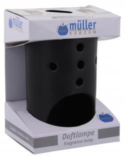 Müller-Kerzen Duftlampe schwarz - 4009078665636