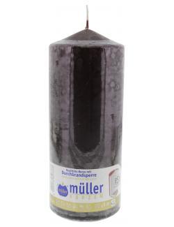 Müller-Kerzen Stumpenkerze schokobraun (1 St.) - 4009078847377