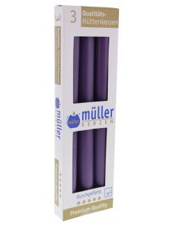 Müller-Kerzen Hüttenkerzen violett (1 St.) - 4009078241212