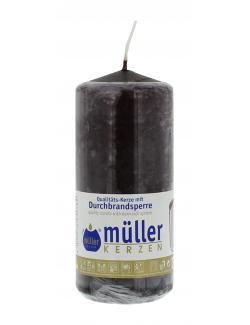 Müller-Kerzen Stumpenkerze schokobraun (1 St.) - 4009078252782
