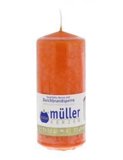 Müller-Kerzen Stumpenkerze mandarin (1 St.) - 4009078252959
