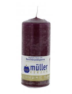 Müller-Kerzen Stumpenkerze weinrot (1 St.) - 4009078253000
