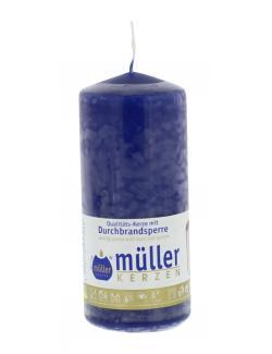 Müller-Kerzen Stumpenkerze indigo (1 St.) - 4009078253086