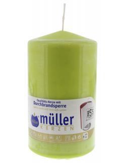 Müller-Kerzen Stumpenkerze maigrün
